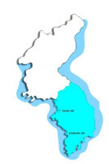 Osan South Korea Map.History Of Osan Air Base